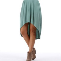 Frosty Mint Hi Lo Skirt