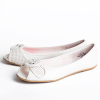 ruth ellis peeptoe flats - $34.99 : ShopRuche.com, Vintage Inspired Clothing, Affordable Clothes, Eco friendly Fashion