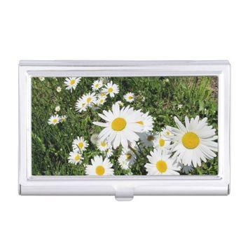 Daisies Business Card Holder