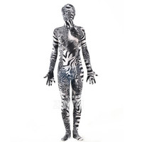 Halloween Full Body Fancy Dress Lycra Spandex Zentai Suits Black Stripe Cosplay Costumes [L20120823] - £24.58 : Zentai, Sexy Lingerie, Zentai Suit, Chemise