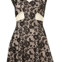 **Foiled Lace Skater Dress by Dress Up Topshop - Dresses  - Apparel