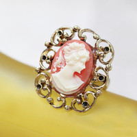 genevieve cameo ring - $12.99 : ShopRuche.com, Vintage Inspired Clothing, Affordable Clothes, Eco friendly Fashion