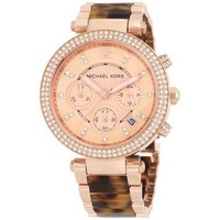 Michael Kors Parker Tortoise Rose Gold Dial Women's Watch MK5538