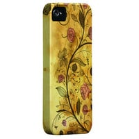 iPhone 5 case with extra protection- Antique Floral Pattern Iphone 5 hard case, iPhone 5 hard shell cover