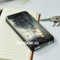 The drop water case coloured drawing cartoon case the rain outside the window iphone 4 case iphone 4s case