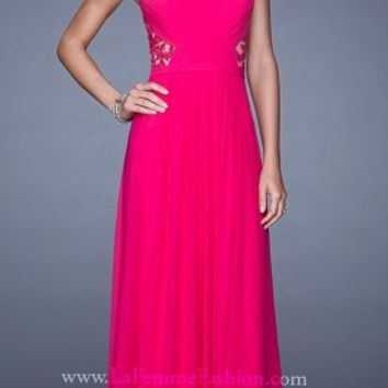 Polished Criss Cross Bodice Prom Dresses By La Femme