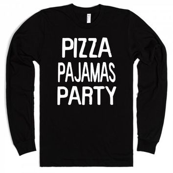 Pizza Party Pajamas-Unisex Black T-Shirt