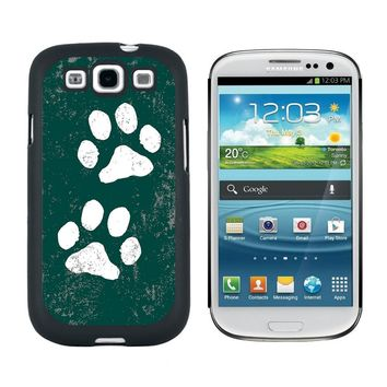 Paw Prints Distressed Teal Galaxy S3 Case