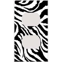 Jagged Zebra Skin Print Decorative Outlet Cover: Home Improvement