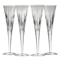 Crystal Soho Flutes - Set of 4 with Toasts Book, Reed and Barton - Barnes & Noble