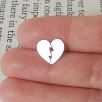 Sterling Silver Broken Heart Earrin.. on Luulla