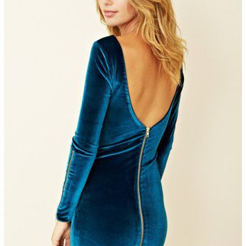 Dress The Population - Charlotte Long Sleeve Dress