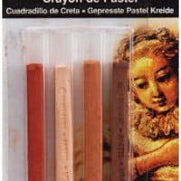 Compressed Pastel Chalk Crayons 4/Pkg-Earthtones, General Pencil - Barnes &amp; Noble