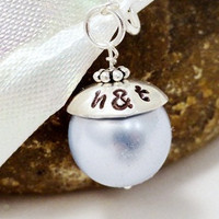 Wedding Bouquet Charm - Light Blue