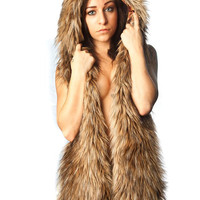 Faux fur Coyote Hat