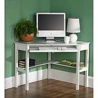 White Birch Corner Desk | Overstock.com