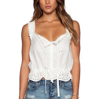 Spell & The Gypsy Collective Casablanca Crop Top in White