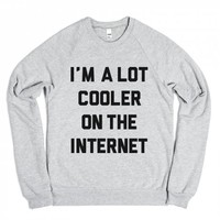 Cooler On The Internet-Unisex Heather Grey Sweatshirt