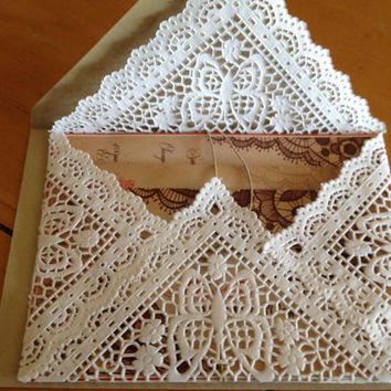 Lace Doily Envelopes