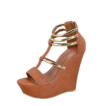 OPEN TOE STRAPPY WEDGE
