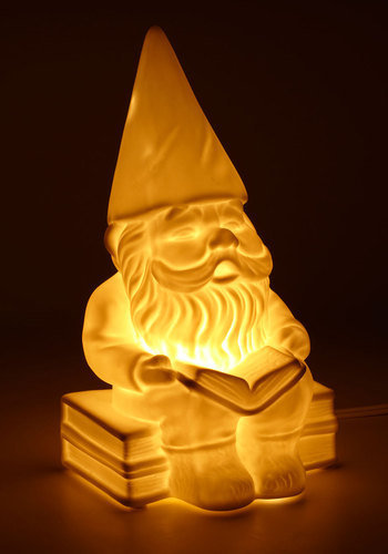 Welcome Gnome Porcelain Lamp | Mod Retro Vintage Decor Accessories | ModCloth.com