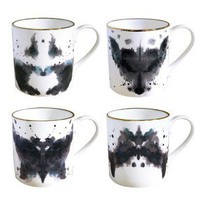 Luna &amp; Curious: Ink Blot Mugs