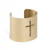 Cross Cut Out Bangle - 2020AVE
