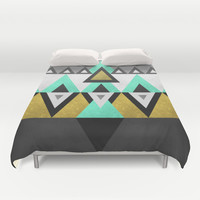 Triangle Abstract Duvet Cover by Elisabeth Fredriksson