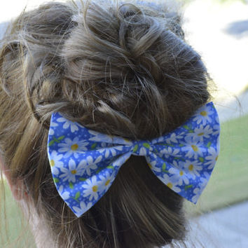 Floral hair bow, hair  bows for women, bows for girls and teens