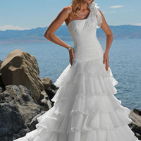 Sexy A-line beach Wedding Dress