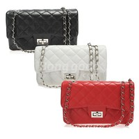 Women Classical Grid Clutch Shoulder Bag Turnkey Handbag Quilting Chain Cross Free Shipping!  - US$12.43