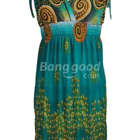 NEW Women's BOHO V Neck Casual Maxi Dress 4 COLORS Free Shipping!  - US$12.07