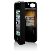 Amazon.com: Black, Case for iPhone 4/4S with built-in storage space for credit cards/ID/money by EYN (Everything You Need): Cell Phones & Accessories