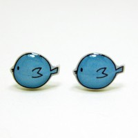 Blue Bird Earrings - Sterling Silve.. on Luulla