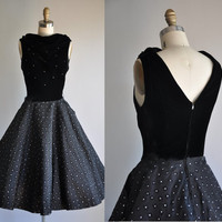 vintage 1950s Starry Night full skirt by simplicityisbliss