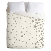 Lisa Argyropoulos Starry Magic Silvery White Duvet Cover