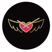 """Lisa Argyropoulos On Golden Wings of Love Round Clock - 12"""" Round"""