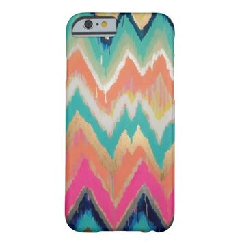 Watercolor Bright Chevron Zig Zag Stripe Pattern iPhone 6 Case