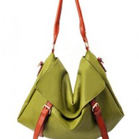 Green Fashion Shoulder Bag With Bow$44.00
