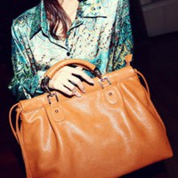Brown Vintage Satchels Bag$48.00
