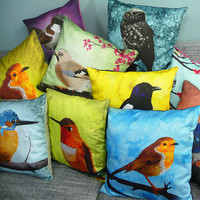 Set of Three Pillow cases  cushion covers of your by Mirthquake