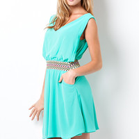 Greek Goddess Dress - Green