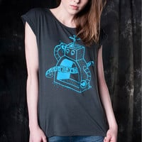 Workaholic Fashion: Soul Tunic Tee Blue Gray, at 22% off!