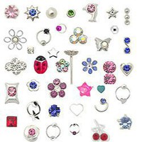 20 Pack 925 Sterling Silver Nose Studs Rings Mixed Sizes 22G FREE Nose Ring Backing: Jewelry