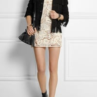 Saint Laurent | Crocheted cotton mini dress | NET-A-PORTER.COM
