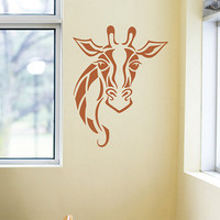 Giraffe Wall Decal Vinyl Wall Art