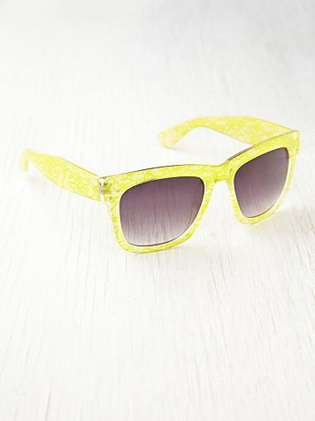 Free People Lace Print Sunglasses