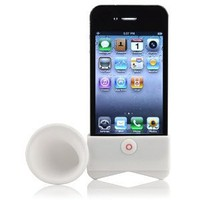 Apple iPhone 4 GSM-CDMA Portable Speaker Horn Stand-White
