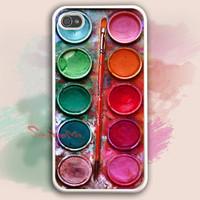 iPhone 4 Case, iphone 4s case, Watercolor painting Box, palette Design iphone hard case, iphone case