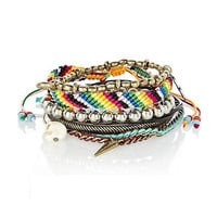 multi coloured pack of friendship bracelets
